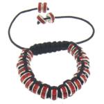 Tunxh Shamballa Bracelets, with Cord najlon & Diamant i rremë, Shape Tjera, me diamant i rremë, e zezë, , nikel çojë \x26amp; kadmium falas, 4x8mm, :5-10Inç, 10Fillesat/Shumë,  Shumë