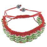Tunxh Shamballa Bracelets, with Cord najlon & Jo-magnetike kuqe e mbylltë, Shape Tjera, me diamant i rremë, i kuq, , nikel çojë \x26amp; kadmium falas, 18mm, 8mm, :6-11Inç, 5Fillesat/Shumë,  Shumë