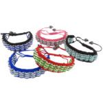 Tunxh Shamballa Bracelets, with Cord najlon & Jo-magnetike kuqe e mbylltë, Shape Tjera, me diamant i rremë, , nikel çojë \x26amp; kadmium falas, 18mm, 8mm, :6-11Inç, 10Fillesat/Shumë,  Shumë