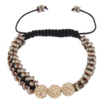 Tunxh Shamballa Bracelets, Shape Tjera, me diamant i rremë, , nikel çojë \x26amp; kadmium falas, 8mm, 2x5mm, :6-10Inç, 10Fillesat/Shumë,  Shumë