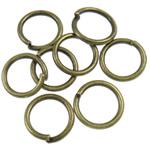 Iron Mbyllur Ring Jump, Hekur, Petull e ëmbël në formë gjevreku, Ngjyra antike bronz i praruar, asnjë, , nikel çojë \x26amp; kadmium falas, 1.20x10mm, : 8mm, 3800PC/Qese,  Qese