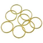 Iron Mbyllur Ring Jump, Hekur, Petull e ëmbël në formë gjevreku, ngjyrë ari praruar, asnjë, , nikel çojë \x26amp; kadmium falas, 1x12mm, : 10mm, 4700PC/Qese,  Qese