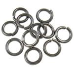 Iron Mbyllur Ring Jump, Hekur, Petull e ëmbël në formë gjevreku, plumbit ngjyrë të zezë praruar, asnjë, , nikel çojë \x26amp; kadmium falas, 1.20x7mm, : 4.8mm,  Qese