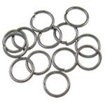 Iron Mbyllur Ring Jump, Hekur, Petull e ëmbël në formë gjevreku, plumbit ngjyrë të zezë praruar, asnjë, , nikel çojë \x26amp; kadmium falas, 0.70x6mm, : 4.5mm, 15380PC/Qese,  Qese