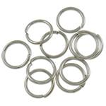Iron Mbyllur Ring Jump, Hekur, Petull e ëmbël në formë gjevreku, ngjyrë platin praruar, asnjë, , nikel çojë \x26amp; kadmium falas, 0.70x6mm, : 4.5mm, 15380PC/Qese,  Qese