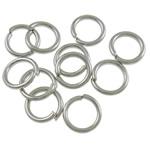 Iron Mbyllur Ring Jump, Hekur, Petull e ëmbël në formë gjevreku, ngjyrë platin praruar, asnjë, , nikel çojë \x26amp; kadmium falas, 0.90x6mm, : 4.4mm, 11600PC/Qese,  Qese