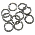 Iron Mbyllur Ring Jump, Hekur, Petull e ëmbël në formë gjevreku, plumbit ngjyrë të zezë praruar, asnjë, , nikel çojë \x26amp; kadmium falas, 1x6mm, : 4mm, 10000PC/Qese,  Qese