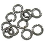 Iron Mbyllur Ring Jump, Hekur, Petull e ëmbël në formë gjevreku, plumbit ngjyrë të zezë praruar, asnjë, , nikel çojë \x26amp; kadmium falas, 1.20x6mm, : 3.5mm, 7350PC/Qese,  Qese