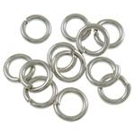 Iron Mbyllur Ring Jump, Hekur, Petull e ëmbël në formë gjevreku, ngjyrë platin praruar, asnjë, , nikel çojë \x26amp; kadmium falas, 1x5mm, : 3.5mm, 14900PC/Qese,  Qese