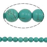 Bruz Beads, Bruz sintetike, Round, blu, 10mm, : 1.5mm, : 15.7Inç, 41PC/Fije floku,  15.7Inç,