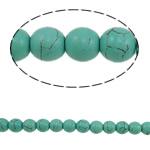 Bruz Beads, Bruz sintetike, Round, blu, 8mm, : 1mm, : 15.7Inç, 52PC/Fije floku,  15.7Inç,