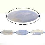 Beads Blue Natyrore agat, Blue agat, Oval, 59x26x6.50mm, : 2mm, : 15.5Inç, 5Fillesat/Shumë,  Shumë
