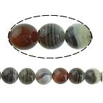 Botswana agat Natyrore Beads, Round, 6mm, : 1mm, : 16Inç, 5Fillesat/Shumë,  Shumë