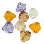 Pendants akrilik, Lot, i tejdukshëm, ngjyra të përziera, 21x18mm, : 2.5mm, 5KG/Shumë,  Shumë