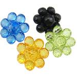 Beads transparente akrilik, Lule, i tejdukshëm, ngjyra të përziera, 32x16mm, : 3mm, 5KG/Shumë,  Shumë