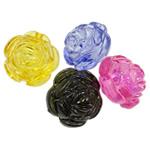 Beads transparente akrilik, Lule, i tejdukshëm, ngjyra të përziera, 25x20mm, : 3.5mm, 5KG/Shumë,  Shumë