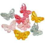 Beads transparente akrilik, Kafshë, i tejdukshëm, ngjyra të përziera, 27x18x13mm, : 2.5mm, 5KG/Shumë,  Shumë