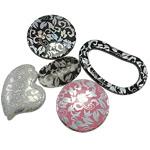 Beads Printime akrilik, Shape përziera, shtypje, ngjyra të përziera, 35-60mm, : 2.5-3mm, 5KG/Shumë,  Shumë