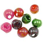 AB-ngjyra akrilik Beads kromuar, Lot, Ngjyra AB kromuar, ngjyra të përziera, 16mm, : 7mm, 5KG/Shumë,  Shumë