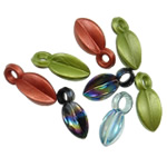 Pendants akrilik, Shape Tjera, i tejdukshëm, ngjyra të përziera, 16-17mm, : 2.5-3mm, 5KG/Shumë,  Shumë