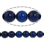 Natürliche blaue Achat Perlen, Blauer Achat, rund, 10mm, Bohrung:ca. 1-1.2mm, Länge:ca. 15 ZollInch, 5SträngeStrang/Menge, verkauft von Menge