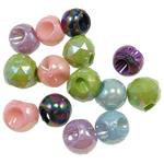 AB-ngjyra akrilik Beads kromuar, Shape përziera, Ngjyra AB kromuar, ngjyra të përziera, 14mm, : 4.5mm, 5KG/Shumë,  Shumë