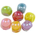 AB-ngjyra akrilik Beads kromuar, Shape Tjera, Ngjyra AB kromuar, ngjyra të forta, ngjyra të përziera, 14x11mm, : 4mm, 5KG/Shumë,  Shumë