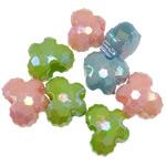AB-ngjyra akrilik Beads kromuar, Kafshë, Ngjyra AB kromuar, ngjyra të forta, ngjyra të përziera, 14x11x8.50mm, : 5mm, 5KG/Shumë,  Shumë
