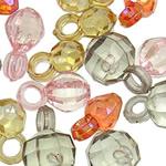 Pendants akrilik, Shape përziera, i përzier, ngjyra të përziera, 15x10--14x7mm, : 4mm, 5KG/Shumë,  Shumë