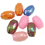 AB-ngjyra akrilik Beads kromuar, Daulle, Ngjyra AB kromuar, ngjyra të forta, ngjyra të përziera, 16x10mm, : 5mm, 5KG/Shumë,  Shumë