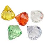 Pendants akrilik, Lot, i tejdukshëm, ngjyra të përziera, 21x17.50mm, : 2mm, 5KG/Shumë,  Shumë