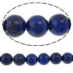 Beads lapis lazuli, Natyrore lapis lazuli, Round, natyror, 10mm, : 1mm, : 15.5Inç, 5Fillesat/Shumë,  Shumë