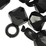 Pendants akrilik, Bicone, ngjyra të forta, e zezë, 15x10mm, : 3.5mm, 5KG/Shumë,  Shumë