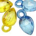 Pendants akrilik, Bicone, i tejdukshëm, ngjyra të përziera, 16x9x8mm, : 3mm, 5KG/Shumë,  Shumë