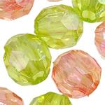 AB-ngjyra akrilik Beads kromuar, Round, Ngjyra AB kromuar, i tejdukshëm, ngjyra të përziera, 12mm, : 4mm, 5KG/Shumë,  Shumë