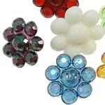 Pendants akrilik, Lule, i përzier, ngjyra të përziera, 18x11mm, : 3mm, 5KG/Shumë,  Shumë