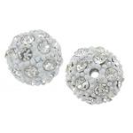 Alloy zink Beads diamant i rremë, Round, pikturë, me diamant i rremë, Ngjyra nikel, , nikel çojë \x26amp; kadmium falas, 12mm, : 2mm, 50PC/Qese,  Qese