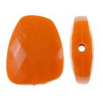 Beads Solid Color akrilik, Trapez, asnjë, ngjyra të forta, portokall, 23.40x30x8mm, : 2mm, 215PC/Qese,  Qese