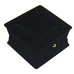 Velveteen byzylyk Box, Katror, e zezë, 90x55mm, 20PC/Qese,  Qese