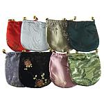 Drawstring çanta bizhuteri, Poliestër dhe pambuku, ngjyra të përziera, 105x105x5mm, 100PC/Qese,  Qese