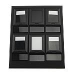 Moda bizhuteri Display, Lëkurë, Drejtkëndësh, asnjë, asnjë, e zezë, 250x210x50mm,  I vendosur