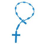 Rrathë Silicone, Kryq, asnjë, blu, 5.5mm, 22.5x32.5mm, : 8.2Inç, 100Fillesat/Shumë,  Shumë