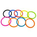 Rrathë Silicone, Shape Tjera, asnjë, ngjyra të përziera, 5mm, : 8Inç, 100PC/Qese,  Qese