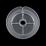 Wire rrotë, Plastike PC, Round, i tejdukshëm, gri, 80x80x21mm, 100PC/Shumë,  Shumë