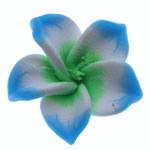 Beads polimer balta, Polymer Clay, Lule, asnjë, blu, 21x20.50x9mm, : 2mm, 100PC/Qese,  Qese