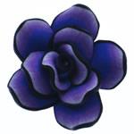 Beads polimer balta, Polymer Clay, Lule, asnjë, hyacinthine, 42x41x19mm, : 3mm, 100PC/Qese,  Qese