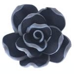 Beads polimer balta, Polymer Clay, Lule, asnjë, e zezë, 29x29.50x14mm, : 2.5mm, 100PC/Qese,  Qese