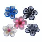 Beads polimer balta, Polymer Clay, Lule, asnjë, ngjyra të përziera, 19-21mm, : 1.5-2mm, 100PC/Qese,  Qese