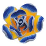 Beads polimer balta, Polymer Clay, Lule, asnjë, 39x38x15mm, : 3mm, 100PC/Qese,  Qese