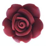 Beads polimer balta, Polymer Clay, Lule, asnjë, i kuq, 16x16x9mm, : 2mm, 100PC/Qese,  Qese
